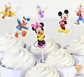 Set A prikkers Mickey Mouse klein (6st.) - stokje naar keuze