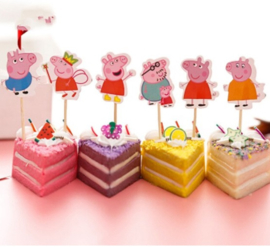 prikkers Peppa Pig B (set van 6)