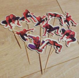 10 prikkers Spiderman gemengd