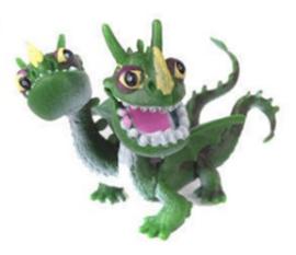 1 figuur Dragons 4,5cm
