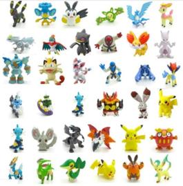 set E mini figuren Pokemon Pikachu 2cm (48 pezzi)