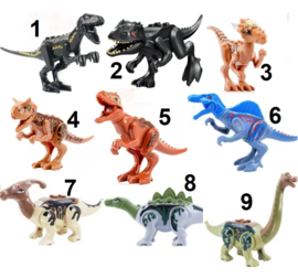 1 figuur Dino C - compatibel met Lego - naar keuze