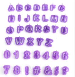 Set 40 letters/cijfers 2,5cm