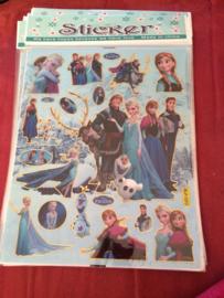 1 grote stickervel A4 Frozen naar keuze