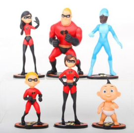 set 6 figuren The Incredibles 7-10cm
