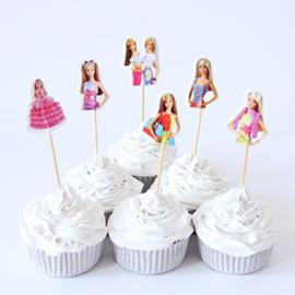 Set prikkers Barbie (6st.) - stokje naar keuze