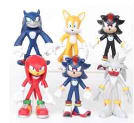 set figures Sonic A (6 poppetjes) 6-7cm