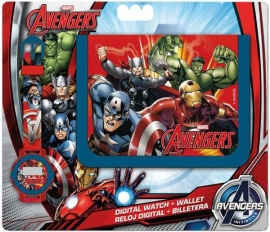 set portmonnee + horloge Avengers