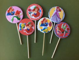 1 Topper medium met sticker Ariel - kleur en prikker naar keuze