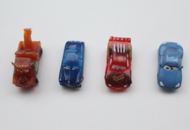 set 4 mini figuren Cars 3-3,5cm