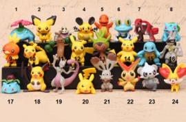 1 figuur Pokemon 4,5cm uit set D - naar keuze