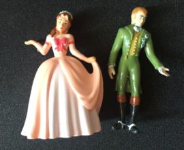 set 2 figuren koning en koningin 6cm