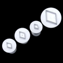 Uitsteker Ruitjes (set 4 stuks) 2 tot 3cm