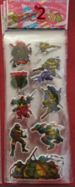 1 stickervel Ninja Turtles - naar keuze