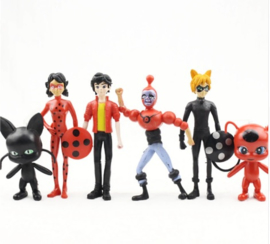 set B - 6 figuren Miraculous 12-13cm
