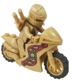 1 poppetje Ninjago Goud met motor n. 3