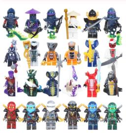 Ninjago Lego en uitdeel - complete lijst