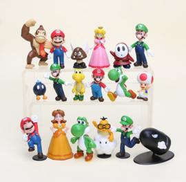 set A 18 figuren  Mario 5-7cm - UITVERKOCHT