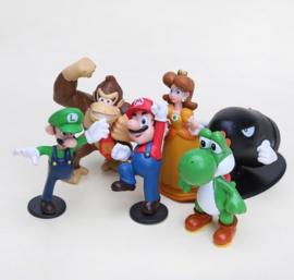 set C 6 figuren  Mario 5-7cm
