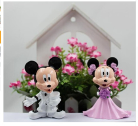 weddingset (2st.) Mickey en Minnie Mouse 7cm