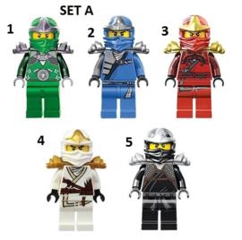 1 poppetje Ninja A naar keuze
