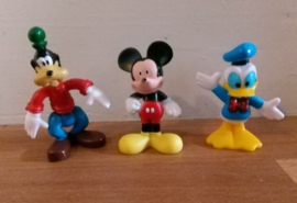 1 set Mickey, Donald Dagobert Duck en Goofey 6,5-7cm