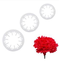Bloemen uitsteker set (3st.) plat ong. 2 tot 4cm