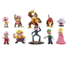 set F 10 figuren  Mario 4-6cm