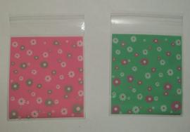 1 zakje met sticker - kleur, maat en thema naar keuze