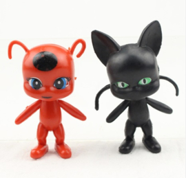 set B - 2 figuren Miraculous ong. 8cm
