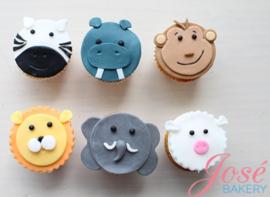 Dieren cupcakes - 12st.