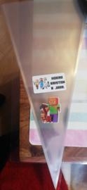 1 puntzakje groot 36x18cm - met sticker en label Minecraft