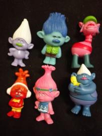 Traktatie pakket: figuren Trolls 11cm (set van 10 - willekeurig)