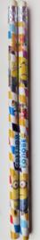 1 potlood Minions streepjes met gum