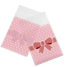 1 mini zakje roze 8x10cm