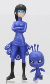 set blauw -  2 figuren Miraculous ong. 5 en 12 cm