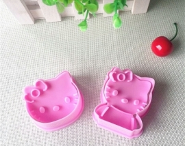 Hello Kitty plunger cutter set (2st.) ong. 6*5cm - binnenkort weer op voorraad