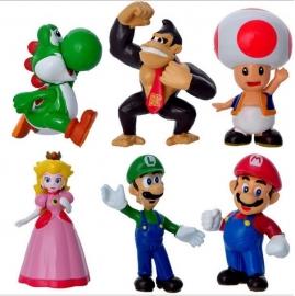 set B 6 figuren  Mario 5-7cm