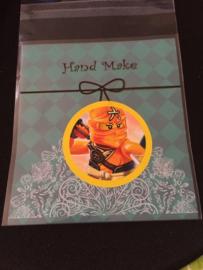 1 zakje met sticker Ninjago - zakje naar keuze