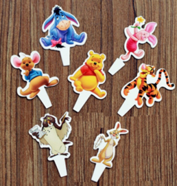 set B papieren toppers Winnie Pooh (7st.) - laatste set