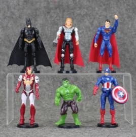 nieuwe set B (verbeterd kwaliteit) 6 figuren Avengers 7-10cm met staand