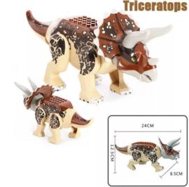 1 Triceratops 28cm groot - compatibel met Lego