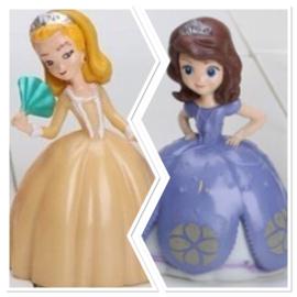 set 2 figuren Prinses Sofia en Amber 7cm
