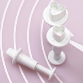 Uitsteker mini Harten (set 3 stuks) 0,5 tot 1cm