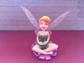 1 figuur Tinkerbell op bloem A 7cm