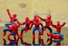 1 set figuurtje  Spiderman 4cm (6 stuks)
