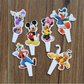 Set mini papieren toppers Mickey Mouse (6st.)