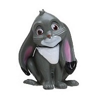 1 figuur konijn 4,5cm