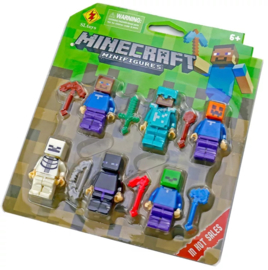 set Minecraft A (6 poppetjes)