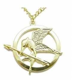 lange ketting met Mockingjay vogel kleur goud unisex